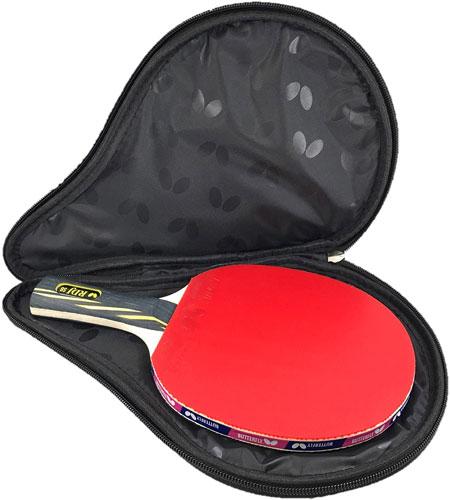 ping pong paddles and balls case