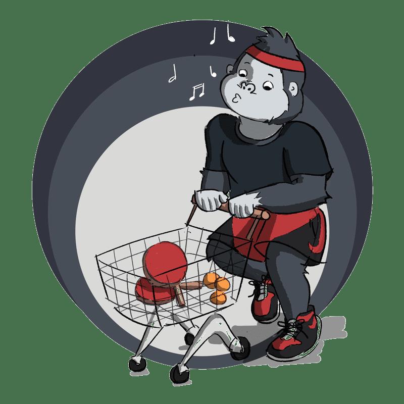 ping pong ball dispenser